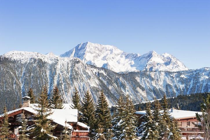 Courchevel ski resort in the Alps mountains