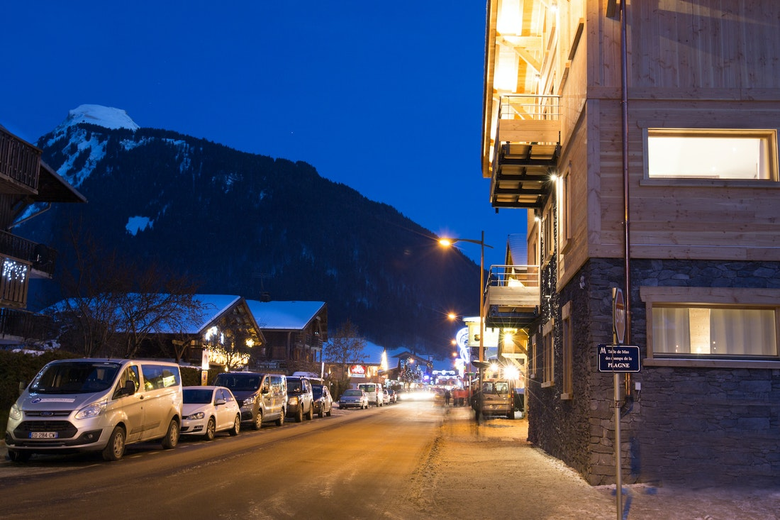 Street view of Etoile accommodation in Morzine