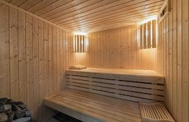 Sauna privé pierres chaudes appartement Moabi Courchevel Le Praz