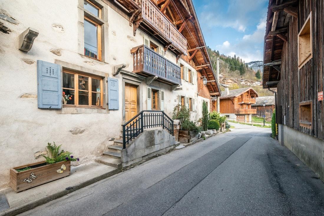 Street view of La Ferme de Margot luxury chalet in Morzine