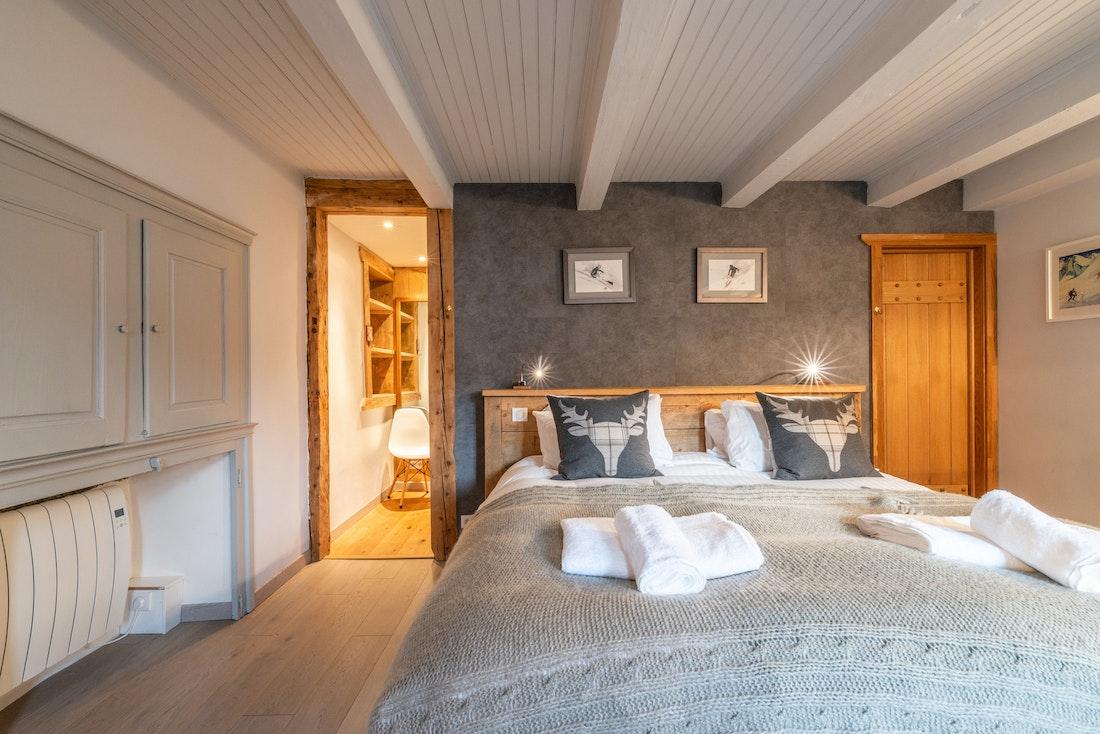 Double bedroom-ensuite at La Ferme de Margot luxury chalet in Morzine