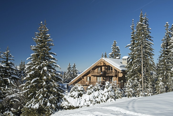 ski resort with apartments in courchevel