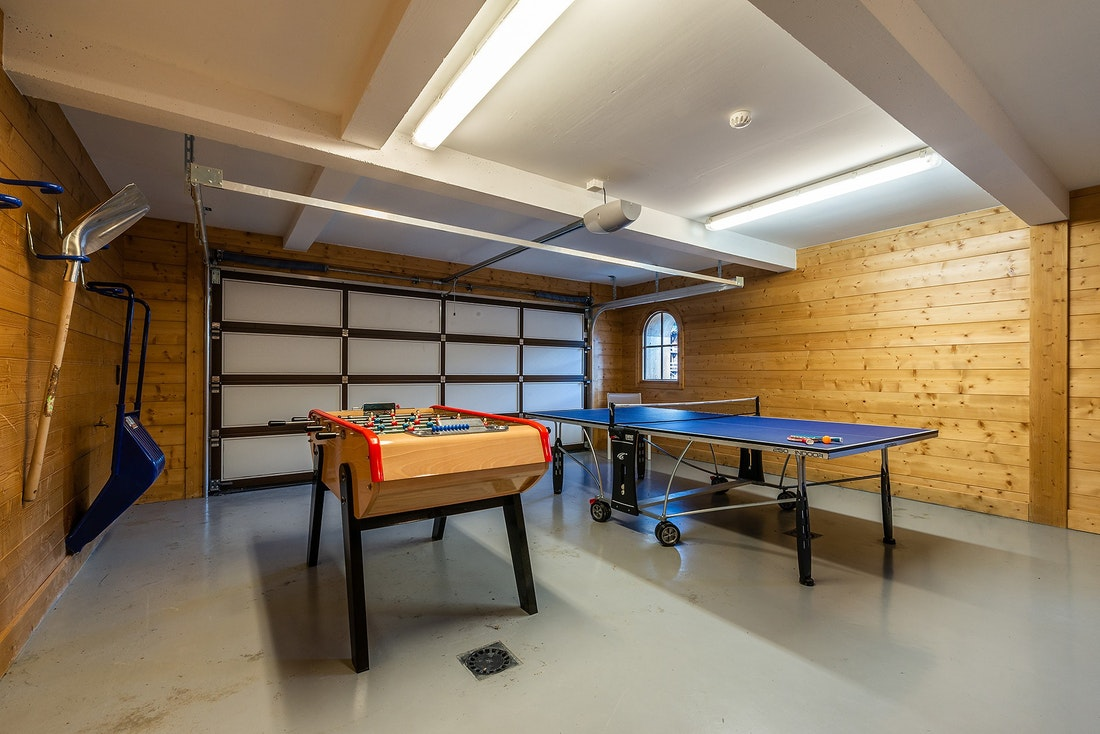 Play room of Abachi luxury chalet in Les Gets