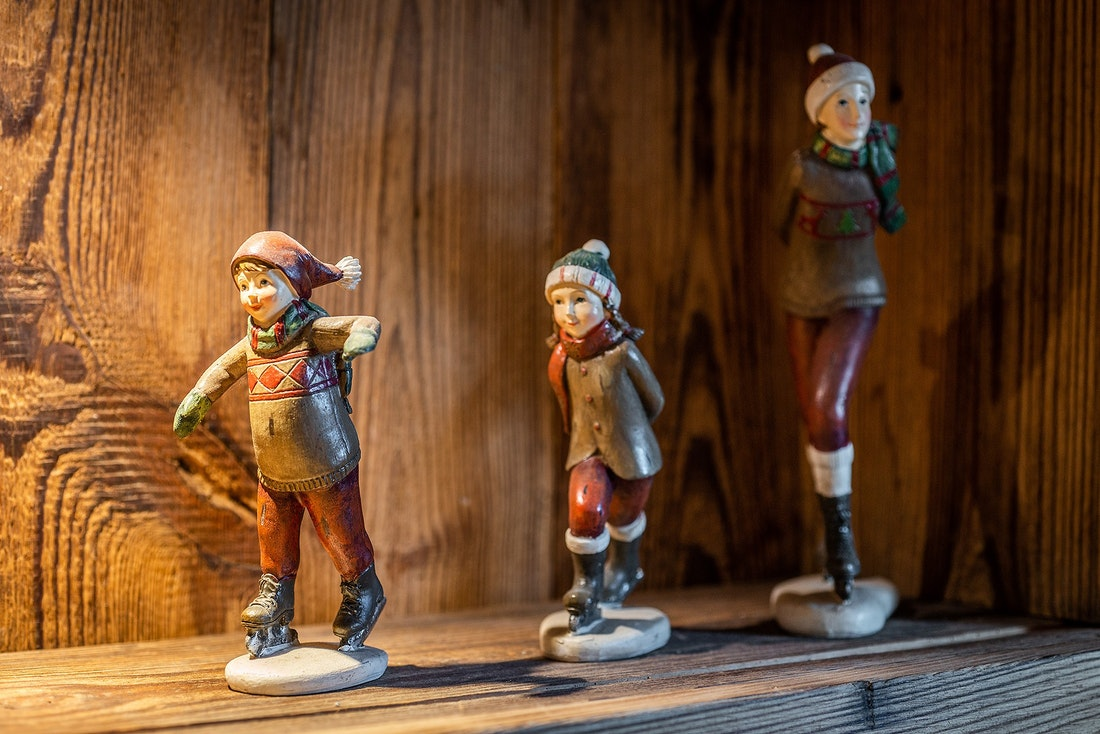 Wooden toys decoration at Abachi luxury chalet in Les Gets