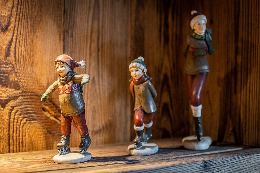 Wooden toys decoration luxury ski chalet Abachi Les Gets