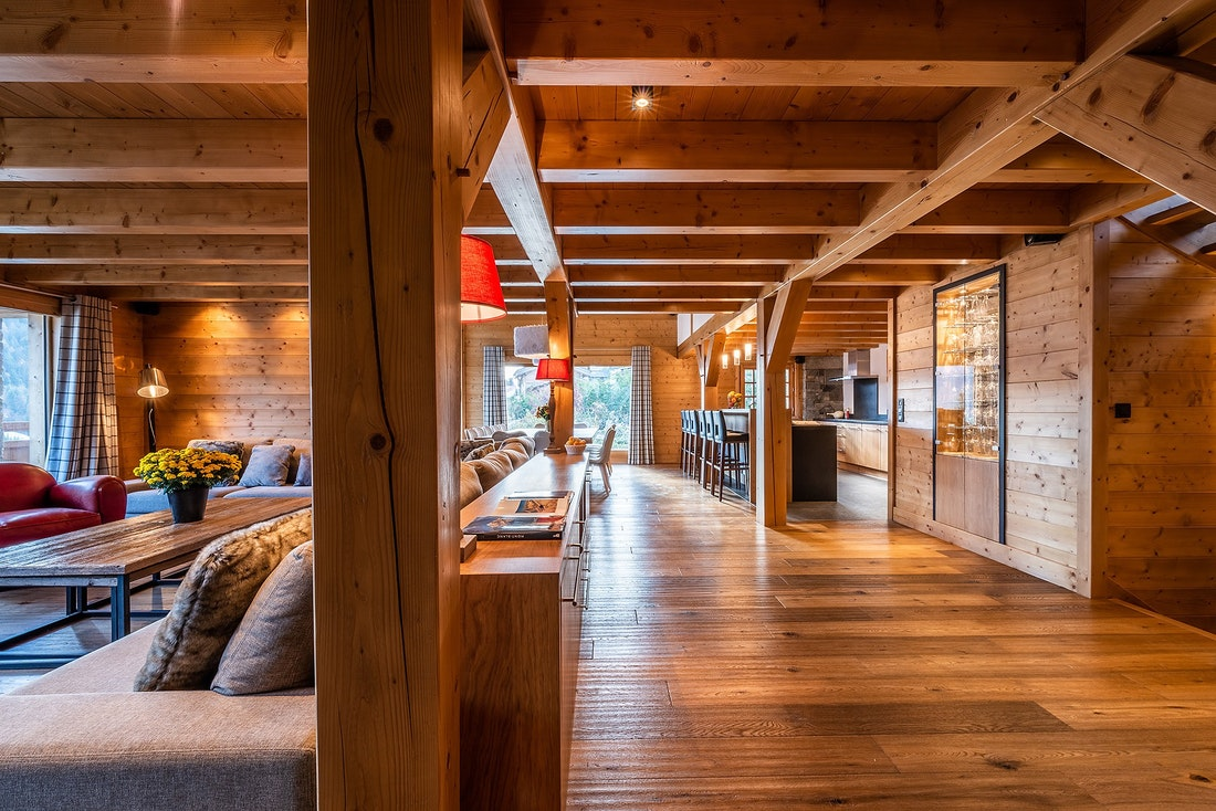 Large wooden room luxury family chalet Abachi Les Gets