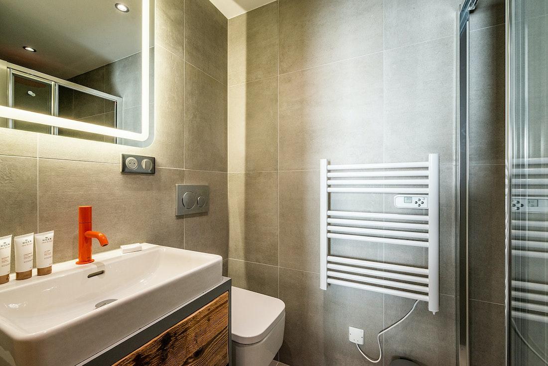 Modern bathroom with Nuxe toiletries at Ravanel luxury accommodation in Chamonixat Ravanel luxury accommodation in Chamonix