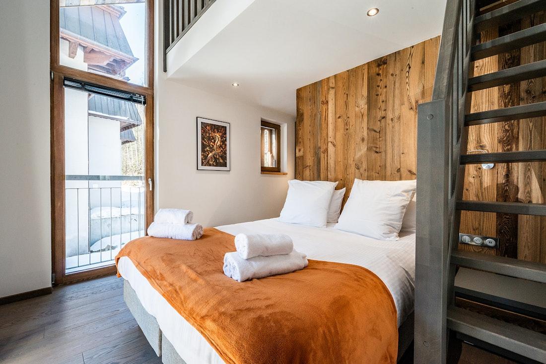 Duplex bedroom at Ravanel luxury accommodation in Chamonix