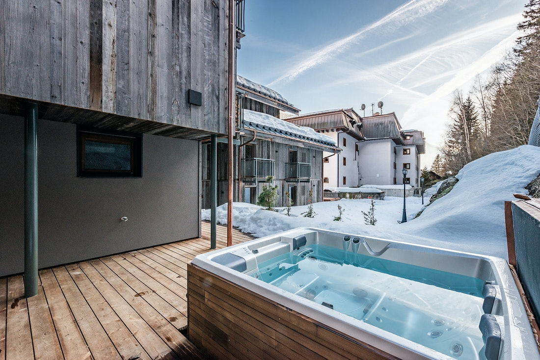 Private sauna at Badi luxury chalet in Chamonix