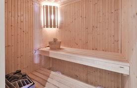 Private sauna hot stones ski in ski out apartment Itauba Courchevel 1850