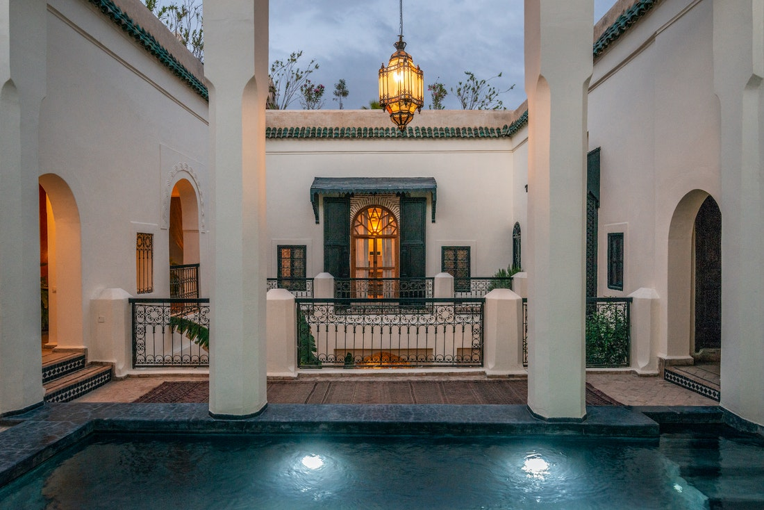 Swimming pool of Adilah riad in Marrakech