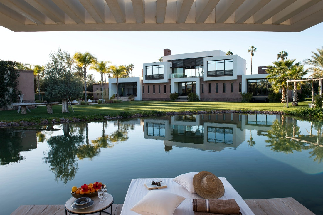 Private lake at Zagora private villa in Marrakech