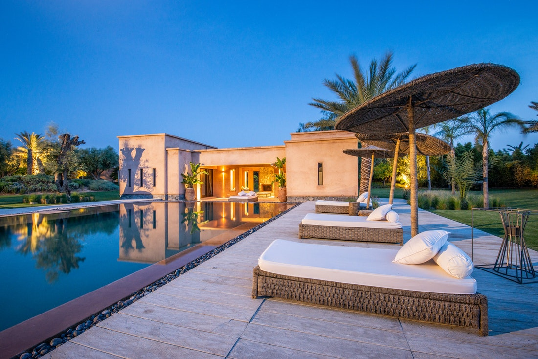 Private pool of Marhba luxury private villa in Marrakech