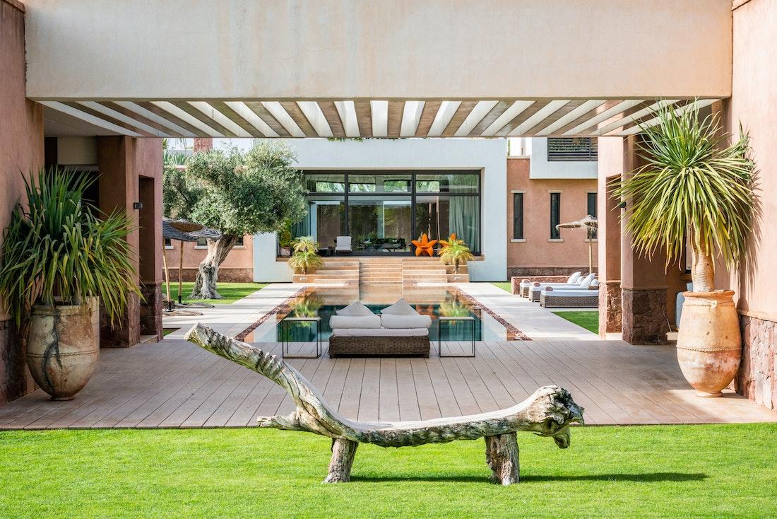 Private pool of Zagora private villa in Marrakech