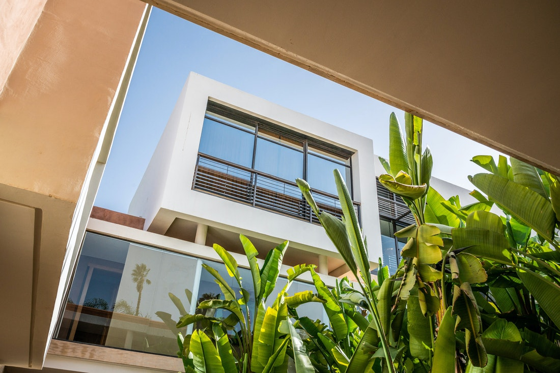 Outside view at Zagora private villa in Marrakech