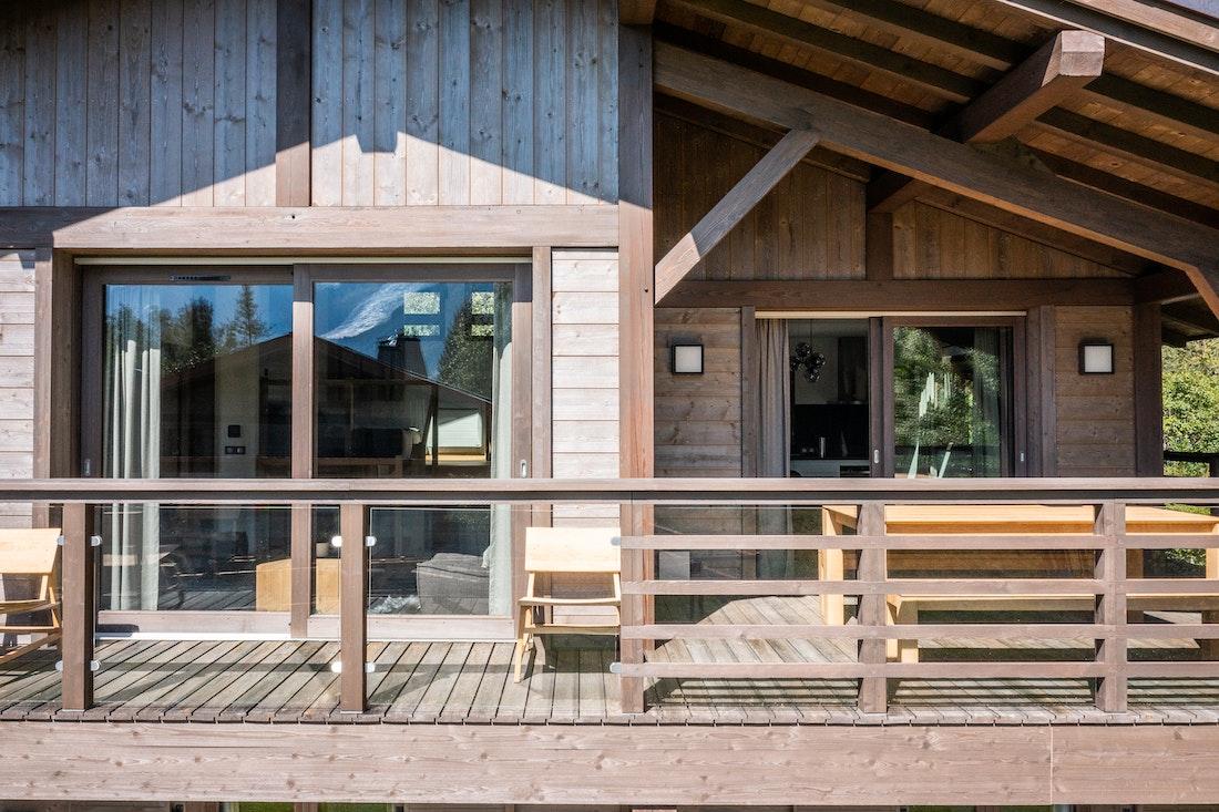 Grand terrace in luxury family chalet Jatoba in Chamonix