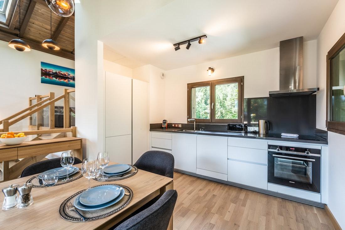 Comtemporary kitchen luxury family chalet Jatoba Chamonix