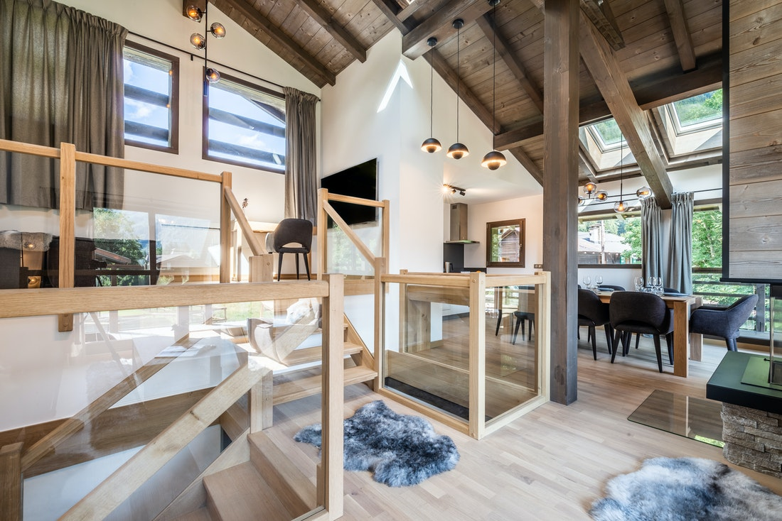 Cosy cinema corner widescreen television luxury family chalet Jatoba Chamonix