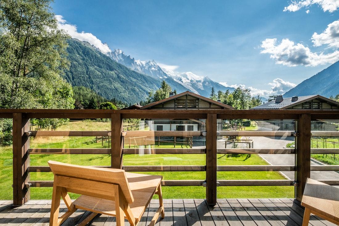 Spacious terrace in luxury family chalet Jatoba in Chamonix