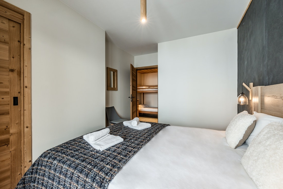Spacious family bunk bed room at ski in ski out apartment Sorbus Alpe d'Huez
