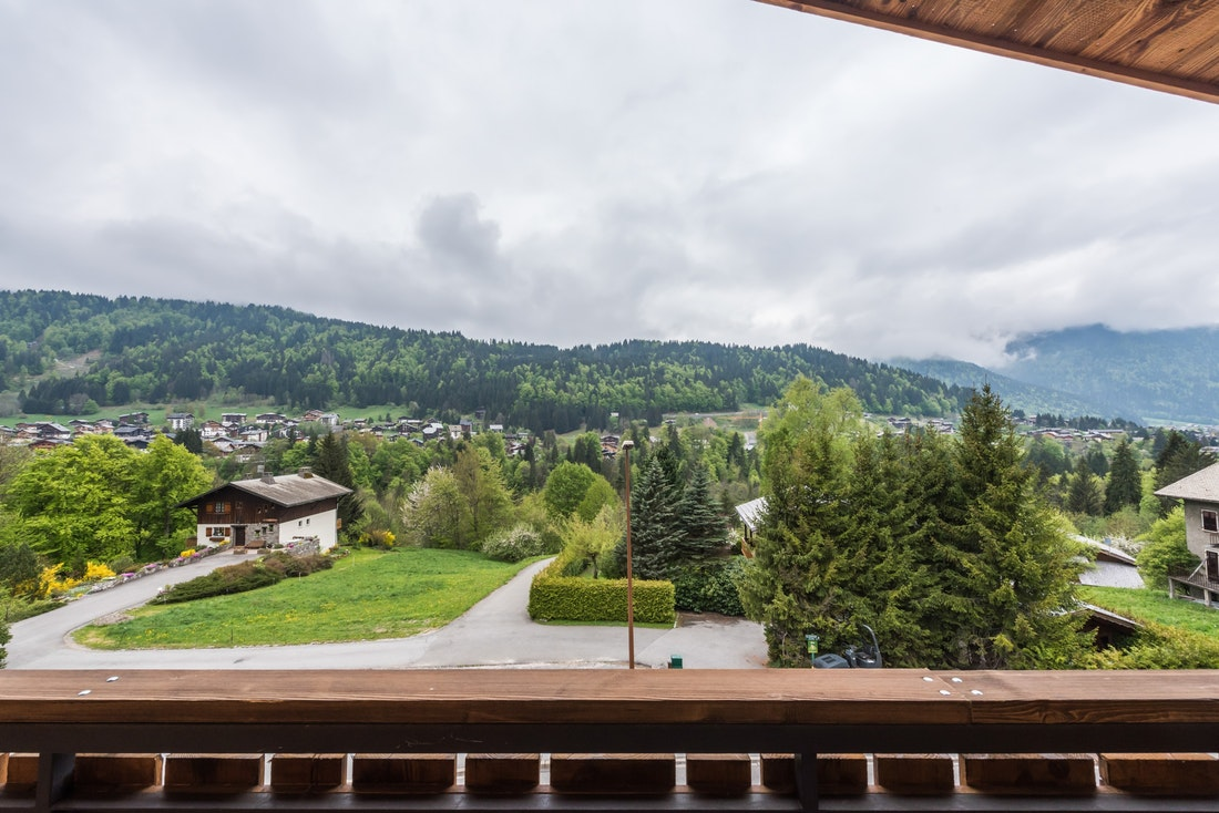 View of the Alps from Agba accommodation in Morzine