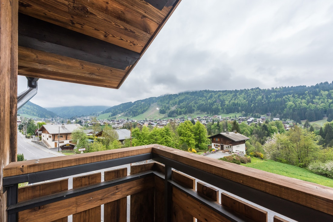 View of Morzine from Agba accommodation in Morzine