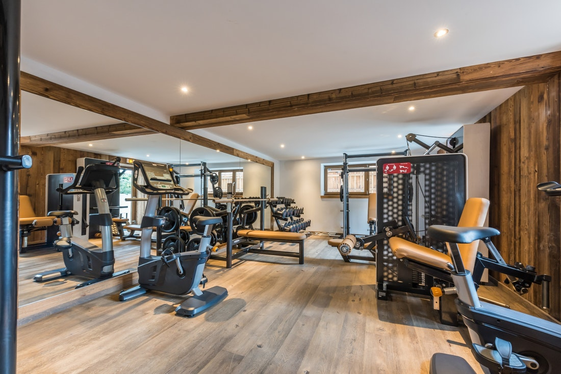 Private gym at Kauri accommodation in Morzine