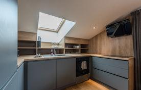 Comtemporary fully equipped kitchen luxury ski apartment Takian Morzine