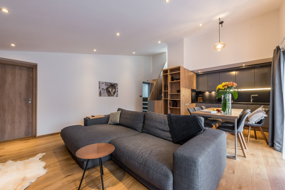 Cosy living room at Agba accomomdation in Morzine