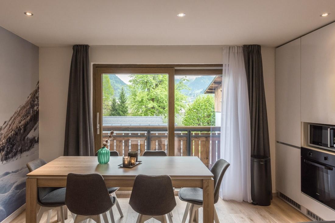 Dining table of Iroko accommodation in Morzine