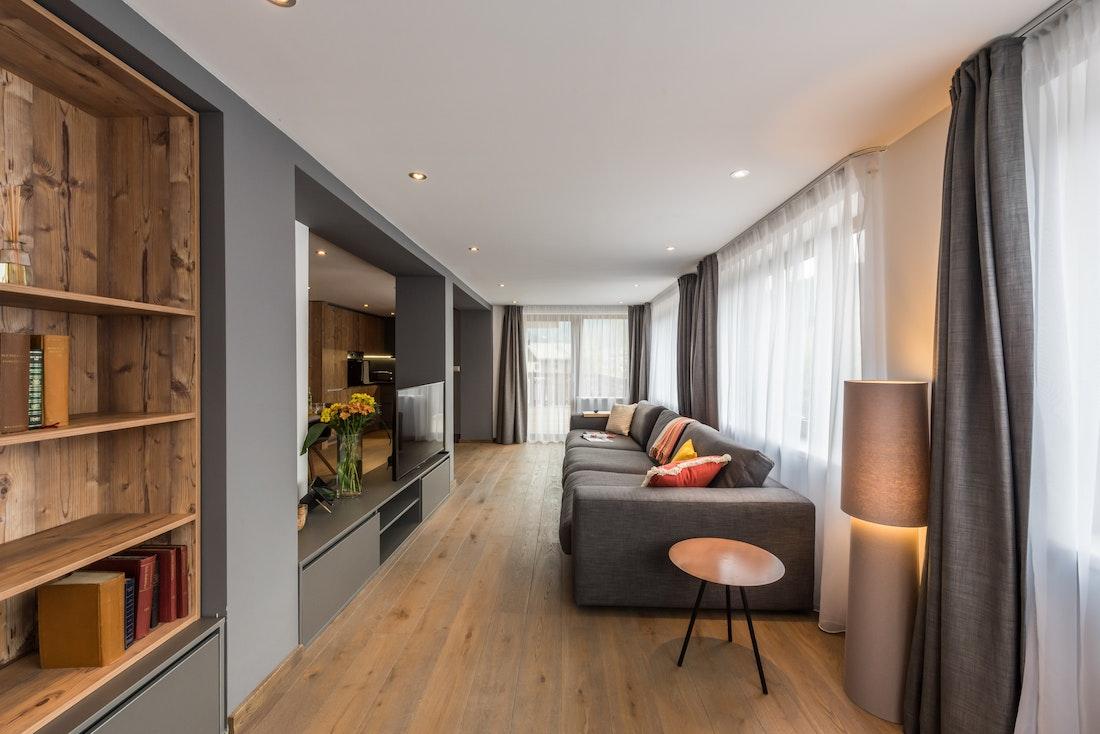 Luxurious living room luxury ski apartment Ayan Morzine