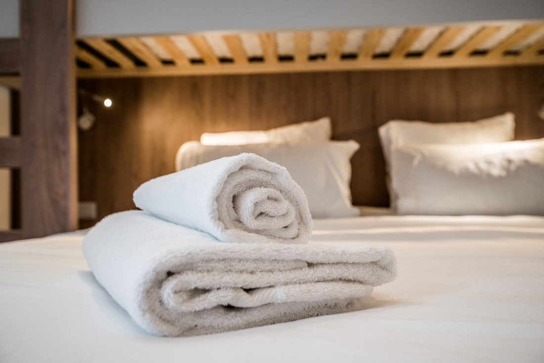 Fresh linen and towels at Kauri accommodation in Morzine