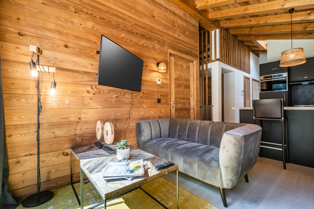 Living room with view  at Sapelli accommodation in Chamonix