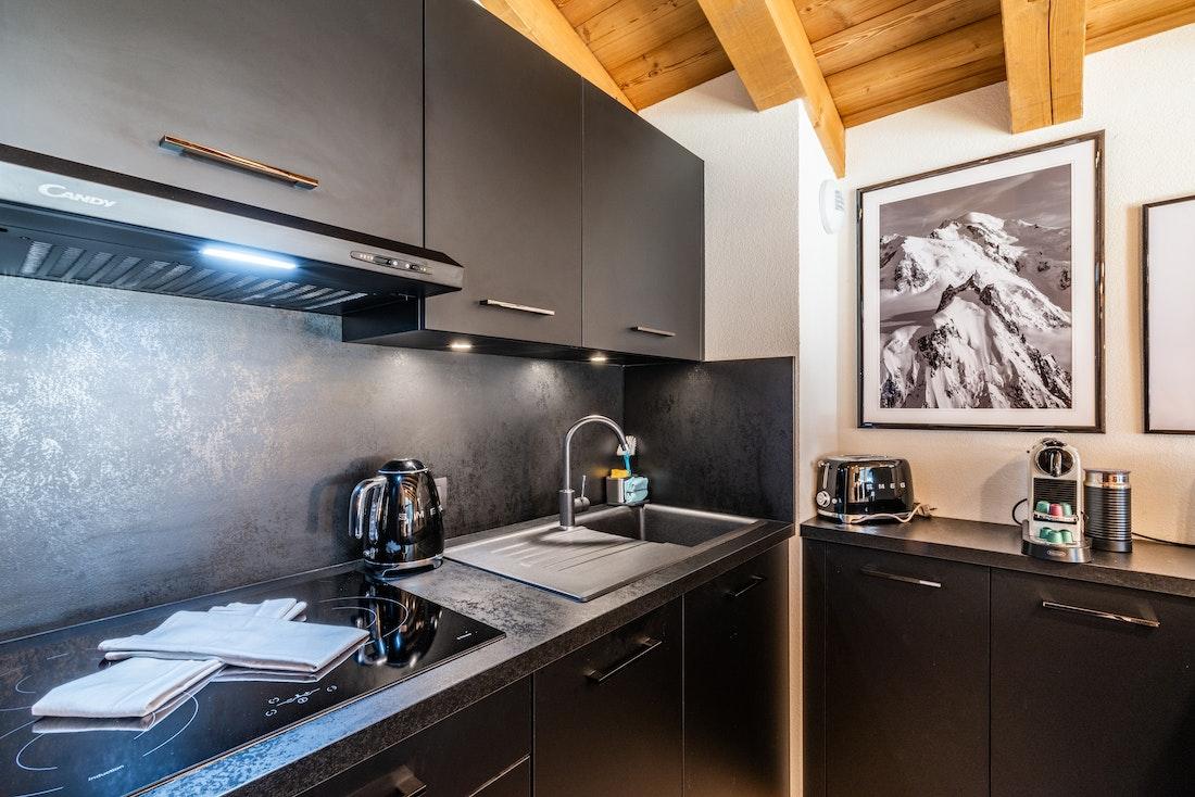 Modern dining room at Sapelli accommodation in Chamonix